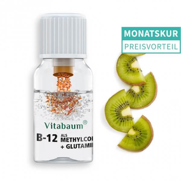B12 Pure - als Methylcobalamin + Glutamin - Monatspack