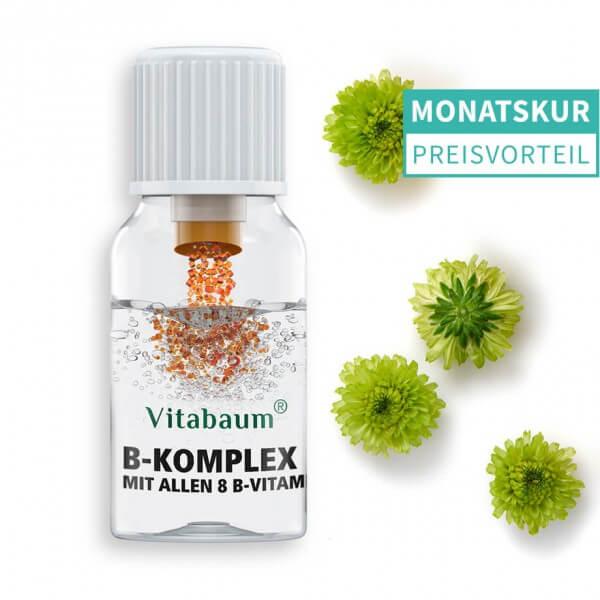B12 + B Komplex - mit allen 8 B-Vitaminen - Monatspack