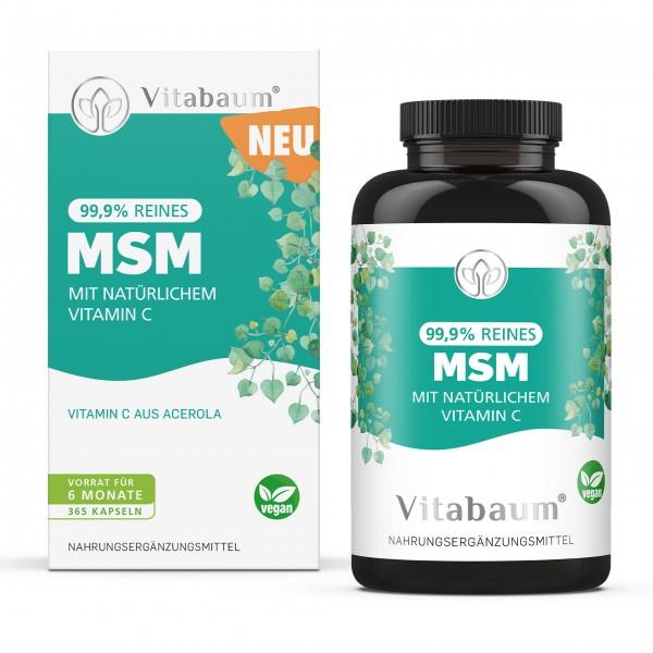 MSM Kapseln - 99.9% reines MSM - 6 Monatsvorrat